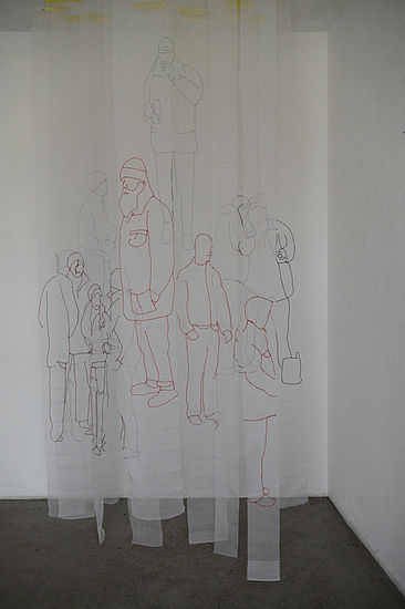 People  silk size variable, 2012
