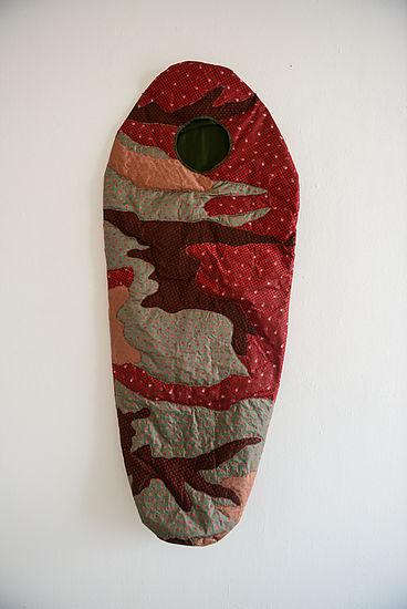 Sleeping beauty  bavarian traditional fabric 185 cm x 75 cm, 2012