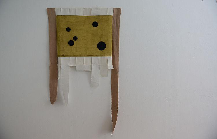 Why  metal fabric, thraed, bandage 88 cm x 120 cm, 2013